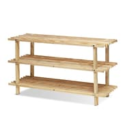 "Furinno® 15.95"" x 27.6"" Wood 3 Tier Shoe Rack"