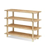 "Furinno® 22.05"" x 27.6"" Wood 4-Tier Shoe Rack"