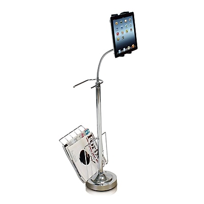 """""""""""Furinno 36"""""""""""""""" x 10"""""""""""""""" Metal 360 Degree Tablet Floor Stand"""""""""""" 1381397"""