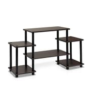 "Furinno® 22.8"" x 41.5"" Rubber Trees & Polyvinyl Chloride TV Stand"