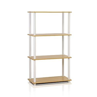 Furinno® Shelf Display Rack, Beech & White