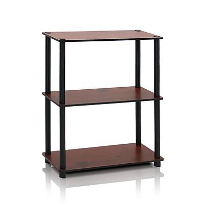 Furinno® Composite Wood Shelf Display Rack, Dark Cherry