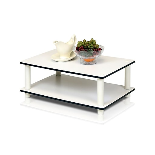 Furinno Simple Design Wood Coffee Table, White, Each (11172WHEXWH)
