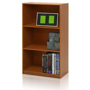 Furinno 21.75'' 3-Shelf Bookcase, Light Cherry (99736LC)