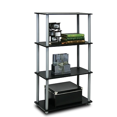 Furinno® Shelf Display Rack, Black & Grey