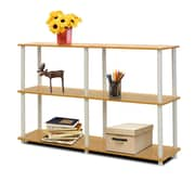 Furinno® Particle Board & PVC Tube Turn-N-Tube 3-Tier Double Size Storage Display Rack
