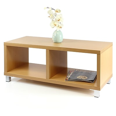 "Furinno® 15.4"" x 39.4"" Coffee Table, Cherry"