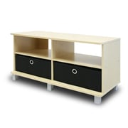"Furinno® 33.25"" x 37.8"" Wood Entertainment Center with 2 Bin Drawer"