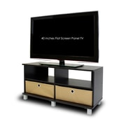 Furinno® Entertainment Center with 2 Collapsible Bin Drawers