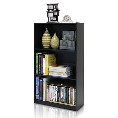 Furinno 21.75'' 3-Shelf Bookcase, Espresso (99736EX)