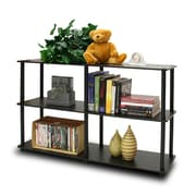 Furinno® Particle Board & PVC Tube Turn-N-Tube 3-Tier Double Size Storage Display Rack Espresso/Black