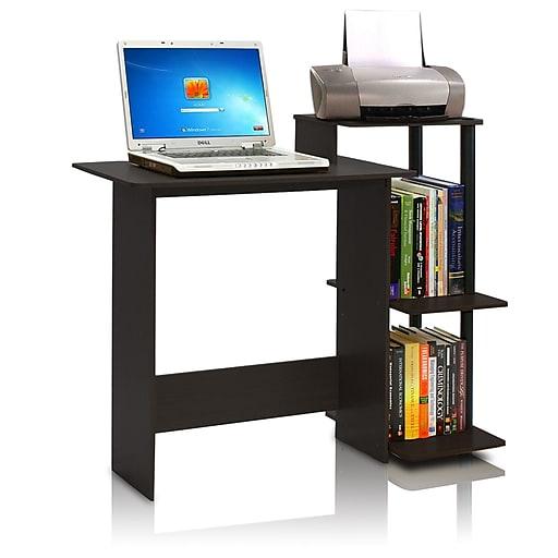 Furinno 39 6 Rectangular Wood Veneer Contemporary Computer Desk Espresso Black 11192ex Bk Staples
