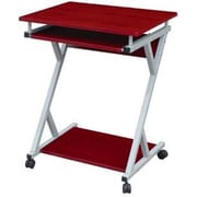 Hodedah 23'' Rectangular Wood/Veneer Modern Computer Desk, Mahogany (HIS828 MAHOGANY)
