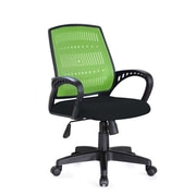 Hodedah Plastic Computer and Desk Office Chair, Fixed Arms, Green (HI-5007 GREEN)