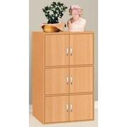 Hodedah HID33 6-Door Wood Storage Cabinets