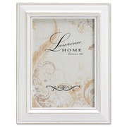 """Lawrence Frames 640280 Weathered White Wood 10.4"""" x 7.1"""" Picture Frame"""