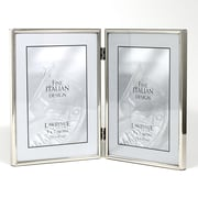 """Lawrence Frames 650057D Silver Metal 7.1"""" x 10.3"""" Picture Frame"""
