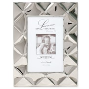 "Lawrence Frames 711146 Silver Metal 8.19"" x 6.22"" Picture Frame"