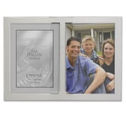 "Lawrence Frames 750057D Silver Metal 7.7"" x 11.2"" Picture Frame"