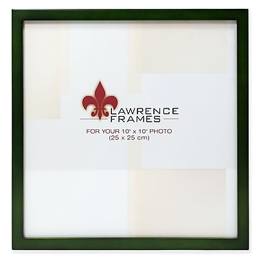 Lawrence Frames 756010 Green Wood 10.9 x 10.9 Picture Frame