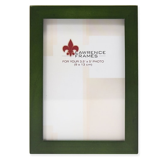Lawrence Frames 756035 Green Wood 35 X 5 Picture Frame Staples