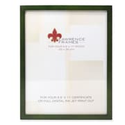 "Lawrence Frames 756081 Green Wood 11.63"" x 9.13"" Picture Frame"
