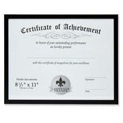 "Lawrence Frames 8.5"" x 11"" Aluminum Black Document Frame (240081)"