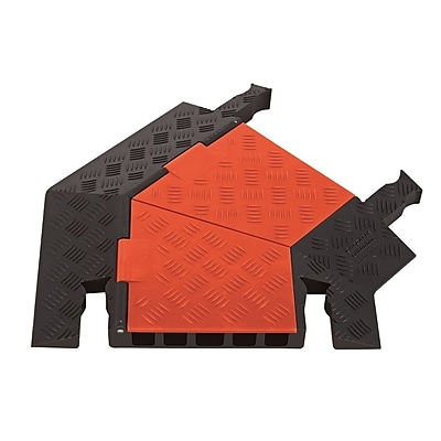 Checkers® Guard Dog® 5 Channel General Purpose Right Turn Cable Protector, Orange/Black