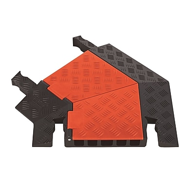 Checkers® Guard Dog® 5 Channel General Purpose Left Turn Cable Protector, Orange/Black