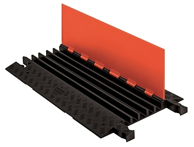 Checkers® Guard Dog® 5 Channel General Purpose Cable Protector With Standard Ramp, Orange/Black