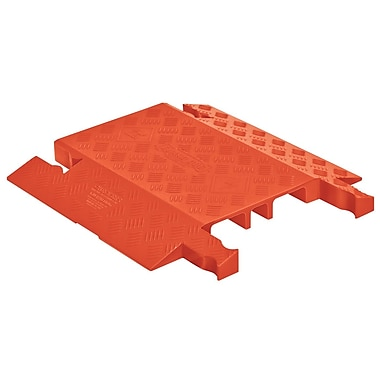 Checkers® Guard Dog® 3 Channel General Purpose Drop Over Cable Protector, Orange