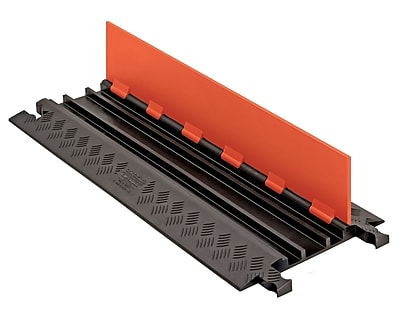 Checkers® Guard Dog® 3 Channel Low Profile Cable Protector With Standard Ramp, Orange/Black