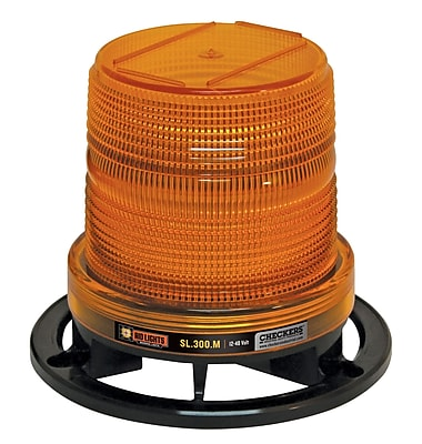 Checkers® AID LIGHTS™ Class III LED Beacon With Standard Mount, Amber