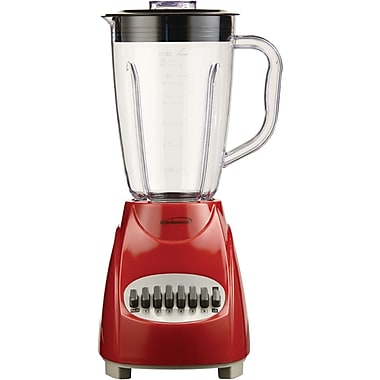 Brentwood 12 Speed Blender With 1.5 Liter Plastic Jar, Red