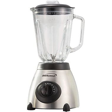 Brentwood 5 Speed Blender With 48 oz. Glass Jar, Stainless Steel