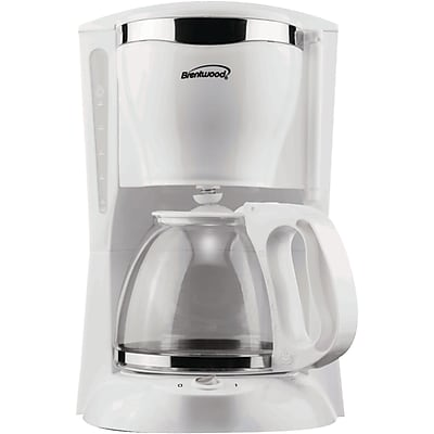 Brentwood® 12 Cup Coffee Maker, White