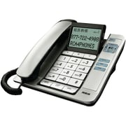RCA 1113-1 Corded Desktop Speakerphone With Caller ID, Silver