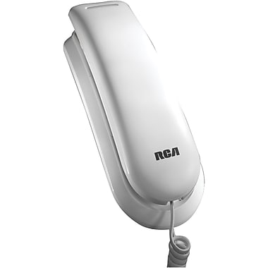 RCA 1121-1 Legend Series Amplified Slim-Line Corded Phone; 13 Name/Number, White
