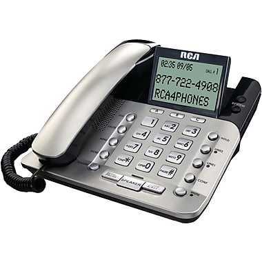 RCA 1223-1 2-Line Corded Desktop Speakerphone With Caller ID