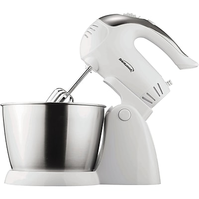 Brentwood® 200 W 5 Speed Stand Mixer With Bowl; White