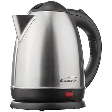 Brentwood® 1.5 Liter Stainless Steel Electric Cordless Tea Kettle, Brushed Finish