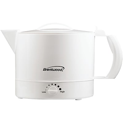 Brentwood 32 Ounce Plastic Hot Pot; White