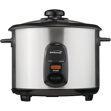 Brentwood® 8 Cup Stainless Steel Rice Cooker