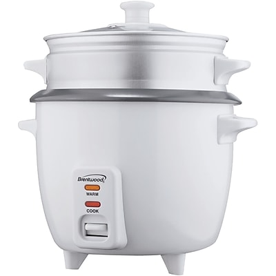Brentwood 15 Cup Rice Cooker With Steamer, White 1196687