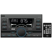 Pyle® PLRRR18U Double-DIN In-Dash Mechless Digital Receiver With USB/SD Memory Card Readers, Black