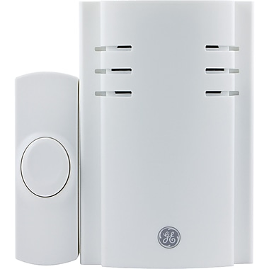 GE 19299 Wireless Plug-In Chime With 1 Push Button