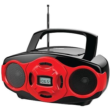 Naxa® NPB-264 MP3/CD Mini Boombox and USB Player, Red