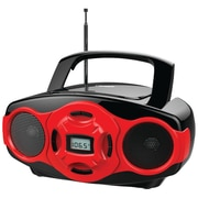 Naxa® NPB-264 MP3/CD Mini Boombox and USB Player, Red