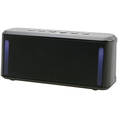 iLive Blue ISB224B Portable Colour-Changing Stereo Bluetooth Speaker, Black