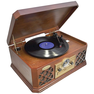 Pyle Bluetooth Wireless Streaming Classic Retro Style Record Player Turntable 1306283